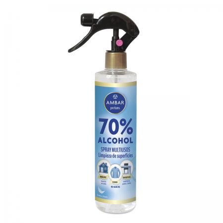 Spray 70% Alcohol Multiusos 300ml Ambar Perfums